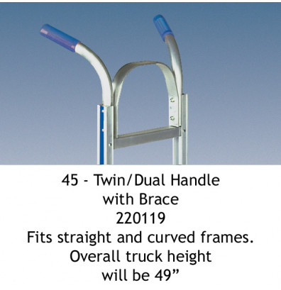 Wesco 45 Twin Dual Handle with Brace fits Straight and Curved Frames