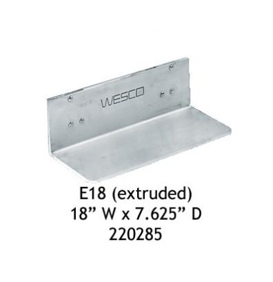 """Wesco E18 Aluminum 18"""" W x 7.625"""" D Extruded Noseplate"""