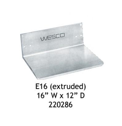 """Wesco E16 Aluminum Extruded Noseplate 16"""" W x 12"""" D"""