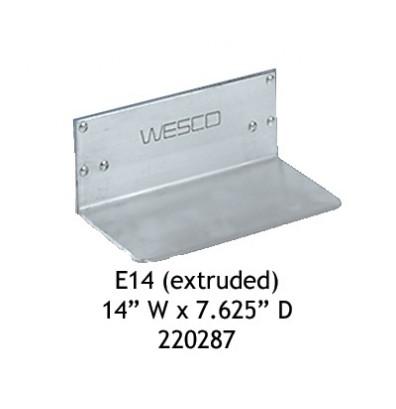 """Wesco E14 Aluminum 14"""" W x 7.625"""" D Extruded Noseplate"""