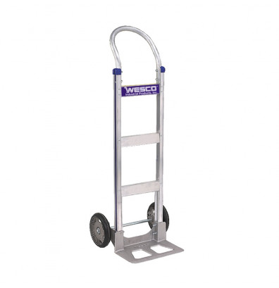 "Wesco 410T14Z2 Cobra-Lite Series 410 Aluminum Hand Truck 7.5"" x 14"" Nose 600 lbs Capacity 10"" Poly/Solid Rubber Wheels (Hand Trucks)"