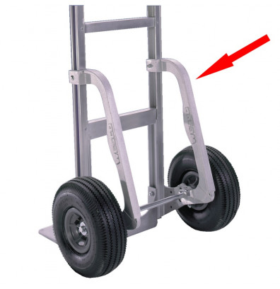 Wesco S3F Cobra Deluxe Aluminum Stairglides with Straps Factory Installed (Hand Trucks)