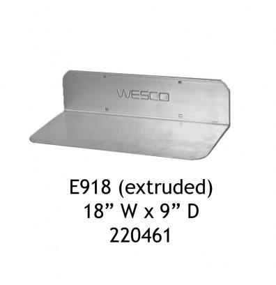 """Wesco E918 Aluminum 18"""" W x 9"""" D Extruded Noseplate"""