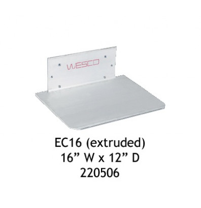 """Wesco EC15 Aluminum Extruded/Recessed Heel Noseplate 16"""" W x 12"""" D for Curved Frame Only"""