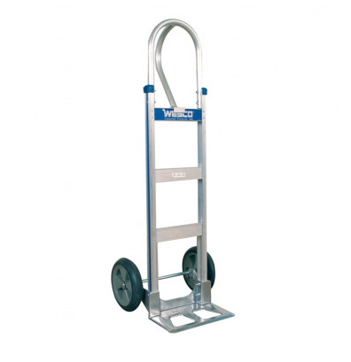 "Wesco 470T14Z2 Cobra-Lite Series 470 Aluminum Hand Truck 7.5"" x 14"" Nose 600 lbs Capacity 10"" Poly/Solid Rubber Wheels (Hand Trucks)"