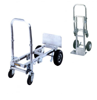"Wesco CBR-FBL Mini Cobra 300/500 lb Load 8.25"" x 32.25"" Bed Aluminum Convertible Hand Truck"