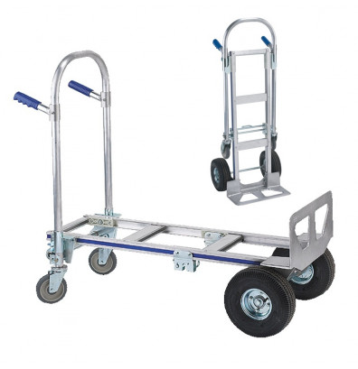 "Wesco Cobra Jr 18"" Cast Nose 560-1200 lb Load Aluminum Convertible Hand Trucks"