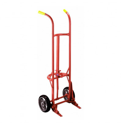 Wesco 20BT Floating Axle 1000 lb Load Steel Drum Hand Truck, Moldon Rubber wheels