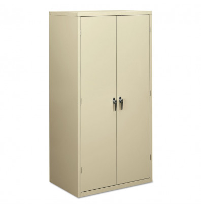 "HON Brigade SC2472L 36"" W x 24"" D x 72"" H Storage Cabinet in Putty, Assembled"