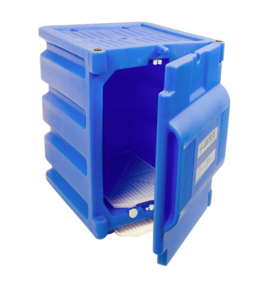 Beautiful Justrite 24080 Countertop Corrosive U0026 Acid Chemical Poly Safety Storage  Cabinet, Two 4 Liter Bottles, Blue