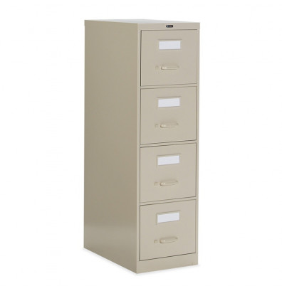"Global 25-400 4-Drawer 25"" Deep Vertical File Cabinet, Letter (Shown in Desert Putty)"