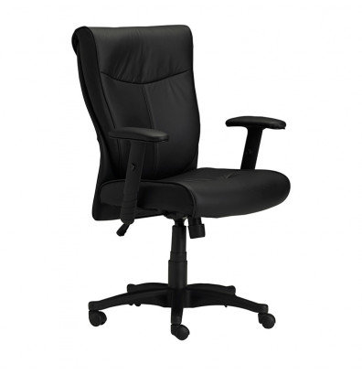 Mayline Mercado 2528 Leather Mid-Back Conference Executive Office Chair