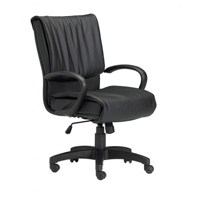 Mayline Mercado 2547 Genuine Leather Mid-Back Executive Office Chair