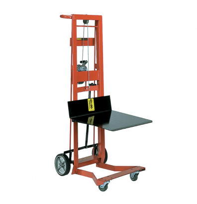 "Wesco WDPL-40-1620 4-Wheel 40"" Lift Manual Hand Winch Platform Stacker"