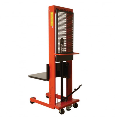 "Wesco SPL602424 Standard Platform 60"" Lift Height Stacker (Lift Equipment)"