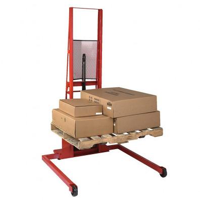 """Wesco ESFL-5630-42S 1000 lb Load 56"""" Lift Wide Straddle Fork Stacker"""