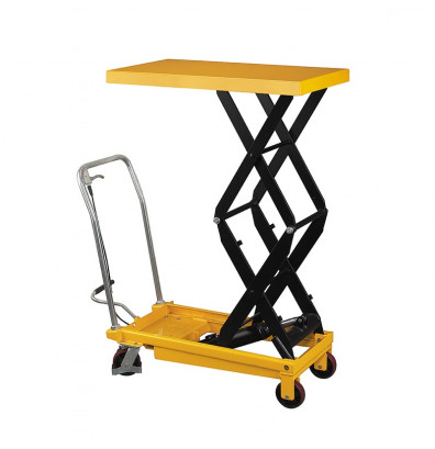 "Wesco LT-770DSL 51"" H Double Scissor Lift Table 770 lb Load 19.5"" x 35.5"""