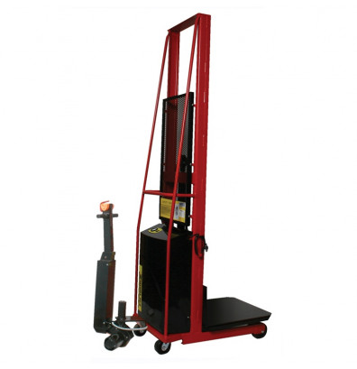 "Wesco PESPL602424-PD 24"" x 24"" Platform 60"" Lift Height Power Stacker w/ Power Drive (Lift Equipment)"