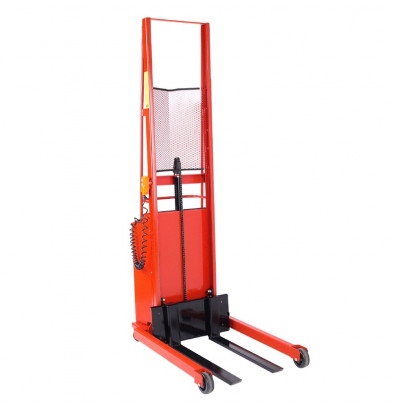 """Wesco Powered 1000 lb Load 56"""" to 76"""" Lift Straddle Fork Stackers with Power Drive"""