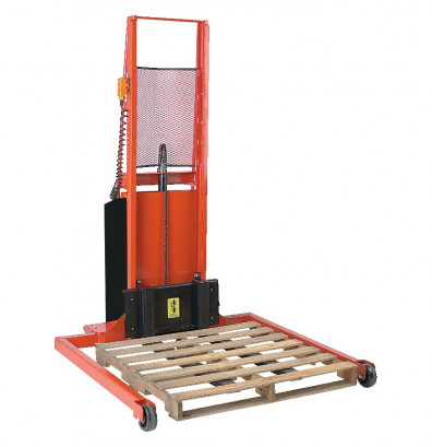 """Wesco PASFL7640S Adjustable Span Straddle 76"""" Lift Height Power Stacker (Lift Equipment)"""