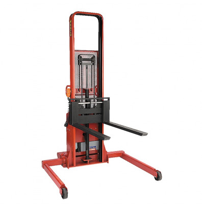 "Wesco PASFL-64-42-3550S-1.5K-PD 64"" Lift 1500 lb Load Powered Fork Stacker with Power Drive"