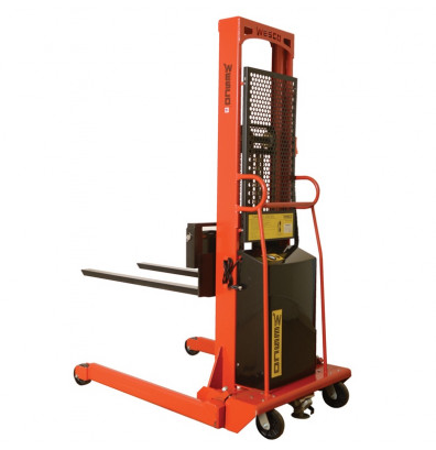 "Wesco PSFL-86-25-20S-2K 86"" Lift 2000 lb Load Powered Fork Stacker"