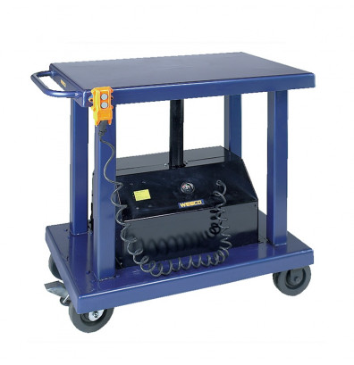 "Wesco PLT-40-3248 4000 lb Load 32"" x 48"" Powered Lift Table"