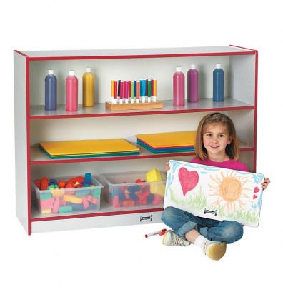 Jonti Craft Rainbow Accents Super Sized 3 Shelf Adjustable Classroom Bookshelf