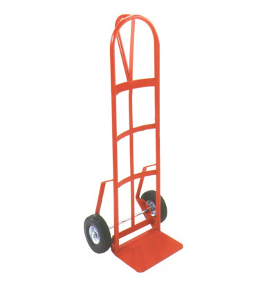 "Wesco 146DPE Industrial Hand Truck 8"" x 14"" Nose 700 lbs Capacity 10"" Steel/Pneumatic Wheels"
