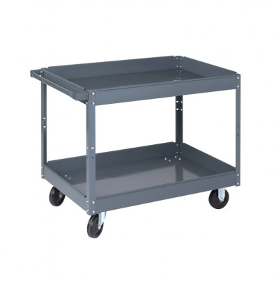 "Wesco SC-2436 500 lb Load 24"" x 36"" Steel Service Cart"