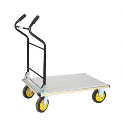 "Wesco Folding Ergo-Handle 660 lb Load 24"" x 35"" Aluminum Platform Truck 270382"