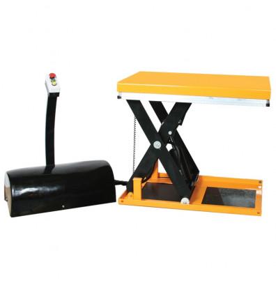 "Wesco MELT Mini Electric Lift Table Mobile Scissor 2,200 lbs Capacity 24"" x 35"" Lift Table"
