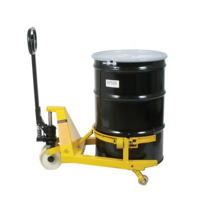 Wesco PTDL 55-Gallon Steel Drum Lifter Pallet Truck, 660 lb Load