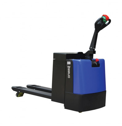"""Wesco 273386 Fully Powered 4400 lb Load Walkie Electric Pallet Jack Truck, With Battery 21.5"""" W x 45"""" L"""