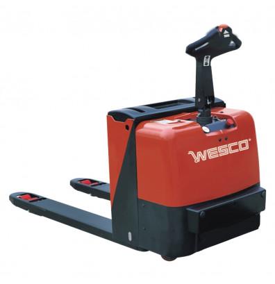"Wesco 273446 Fully Powered 4400 lb Load Heavy Duty Electric Pallet Jack Truck 27"" W x 48"" L"