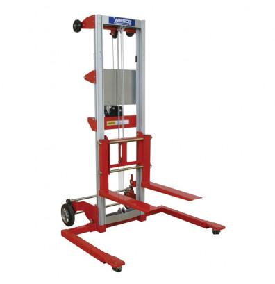 """Wesco HWLSD4 Adjustable Straddle Hand Winch Lift 99"""" - 120.5"""" Lift Range (Lift Equipment)"""