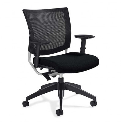 Global Graphic 2738MB Mesh & Fabric Mid-Back Office Chair. Shown in Black