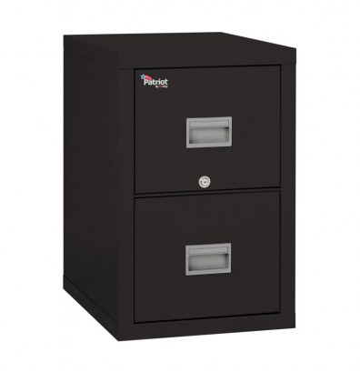 "FireKing Patriot 2-Drawer 25"" Deep 1-Hour Rated Fireproof File Cabinet, Letter & Legal (Shown in Black)"