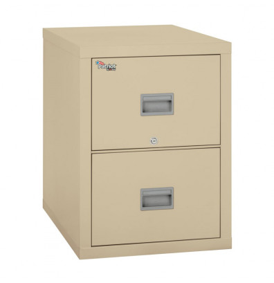 "FireKing Patriot 2P1831-C-BL 2-Drawer 31"" Deep Fireproof File Cabinet (Shown in Parchment)"