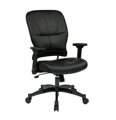 Office Star Synchro-Tilt Eco-Leather Mid-Back Managers Chair