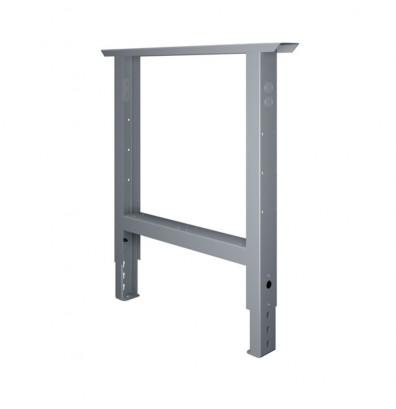 "Tennsco AL-3236 Adjustable Leg for 36"" D Workbench - Shown in Medium Grey"