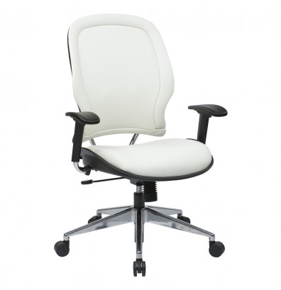Office Star Deluxe Vinyl Mid-Back Managers Chair (Model 33-Y22P91A8)