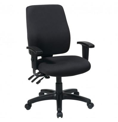 Office Star Work Smart Dual Function Fabric High-Back Ergonomic Task Chair
