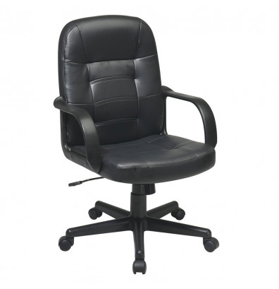 Office Star Eco-Leather Mid-Back Executive Office Chair (Model EC3393-EC3)