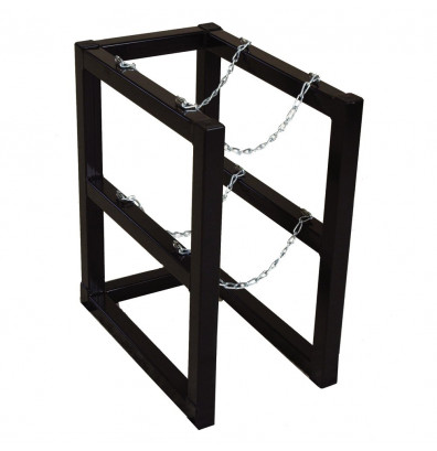 Justrite Double Cylinder Barricade Storage Rack