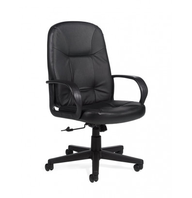 Global Arno 4003 High-Back Bonded Leather Office Chair. Shown in Black