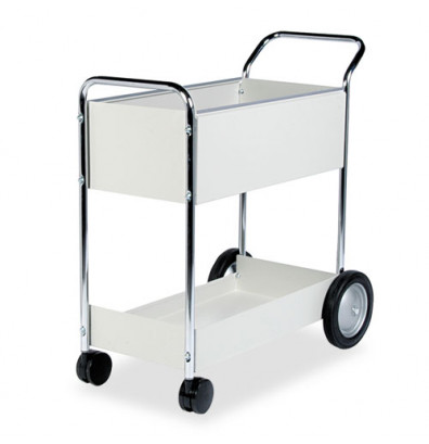 Fellowes 2-Basket Steel Mail Cart