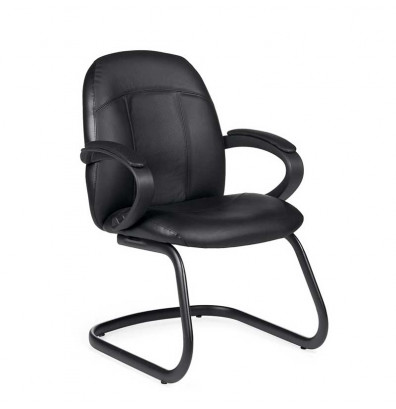 Global Tamiri 4522 Bonded Leather Mid-Back Guest Chair