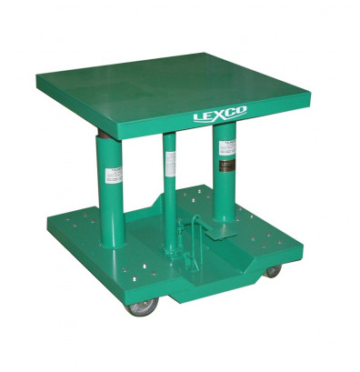"Lexco HT-3388-2F 28-46"" Height 2000 lb Load 30"" x 30"" Hydraulic Lift Table"