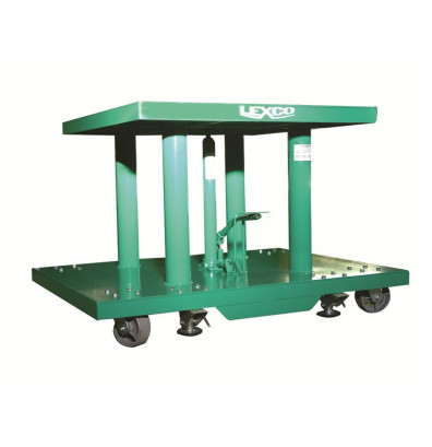"Lexco HT-3488-24 28-46"" Height 2000 lb Load 30"" x 48"" Hydraulic Lift Table"